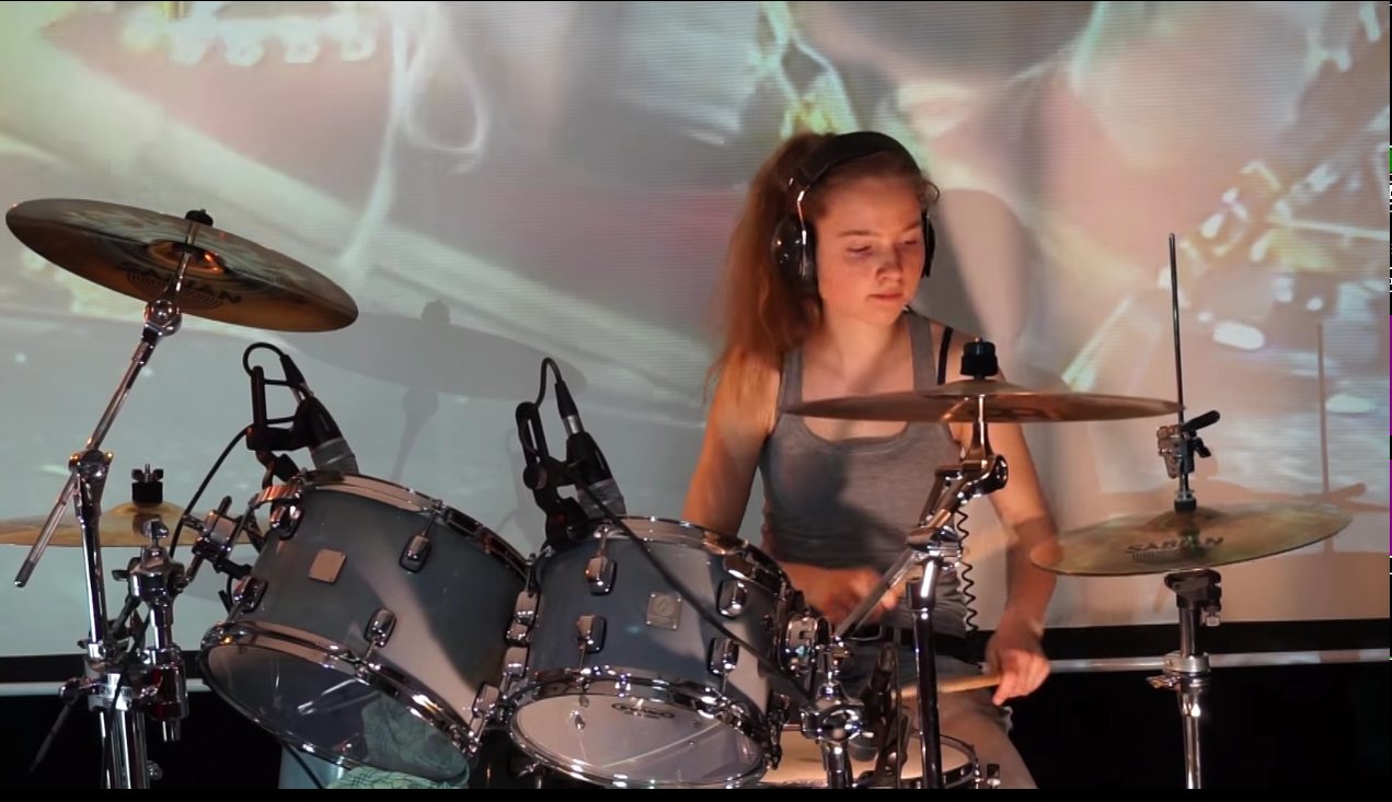 WATCH :Fool In The Rain (Led Zeppelin); drum cover by Sina