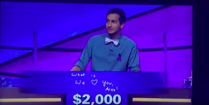 WATCH: Alex Trebek Gets Choked Up At Jeopardy Contestant's Answer