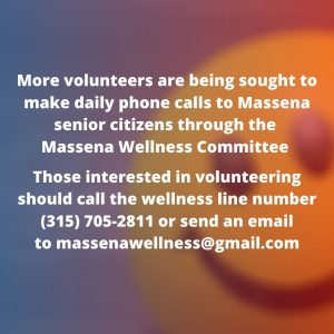 More volunteers sought to reach out to Massena seniors during pandemic