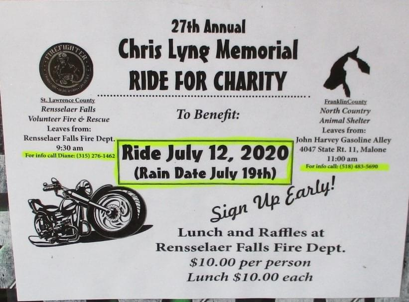 Chris Lyng Memorial Ride For Charity