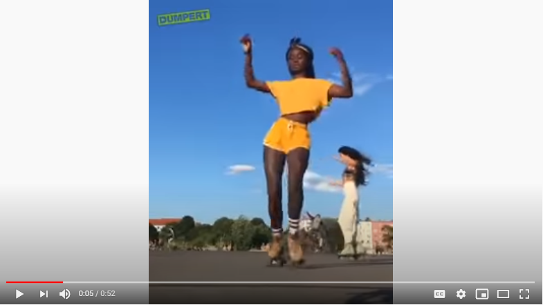 WATCH: Girl Dancing On Roller Skates