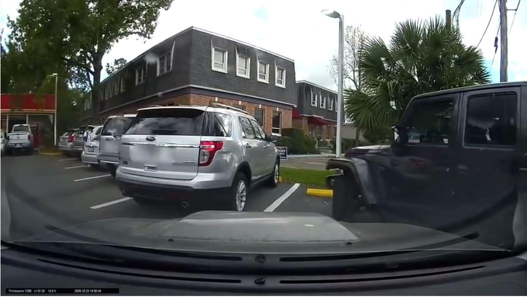 WATCH: Driver Gets Angry When Man Driving Jeep Cuts in to Take Parking Spot