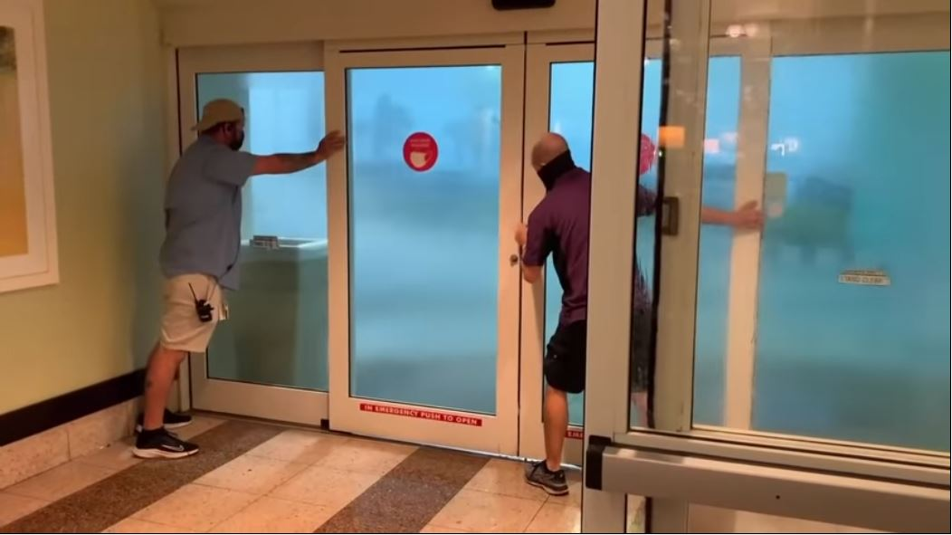 WATCH: Severe Thunderstorm Pushes Door Open At Pensacola Beach