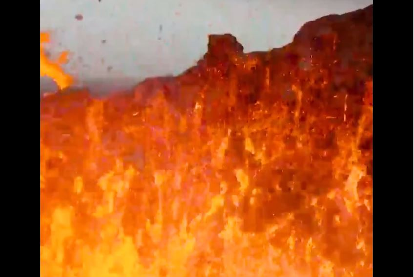 WATCH: Drone Melts While Filming Inside Active Crater at Fagradalsfjall Volcano