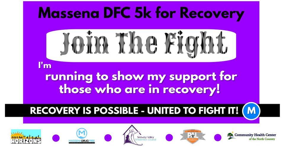 Massena DFC 5k walk/run for Recovery