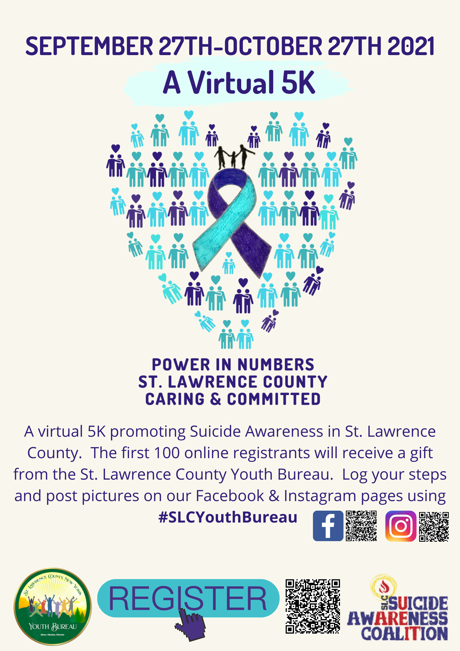 Suicide Awareness Virtual 5K Builds Awareness in St. Lawrence County