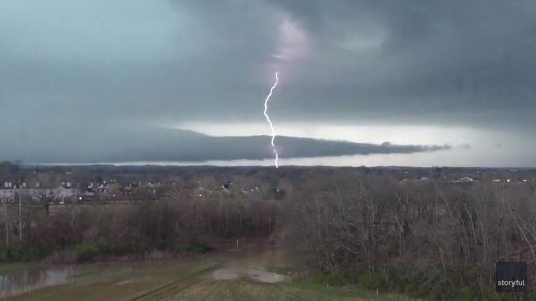 Lightning Flashes as Severe Weather Hits Tennessee