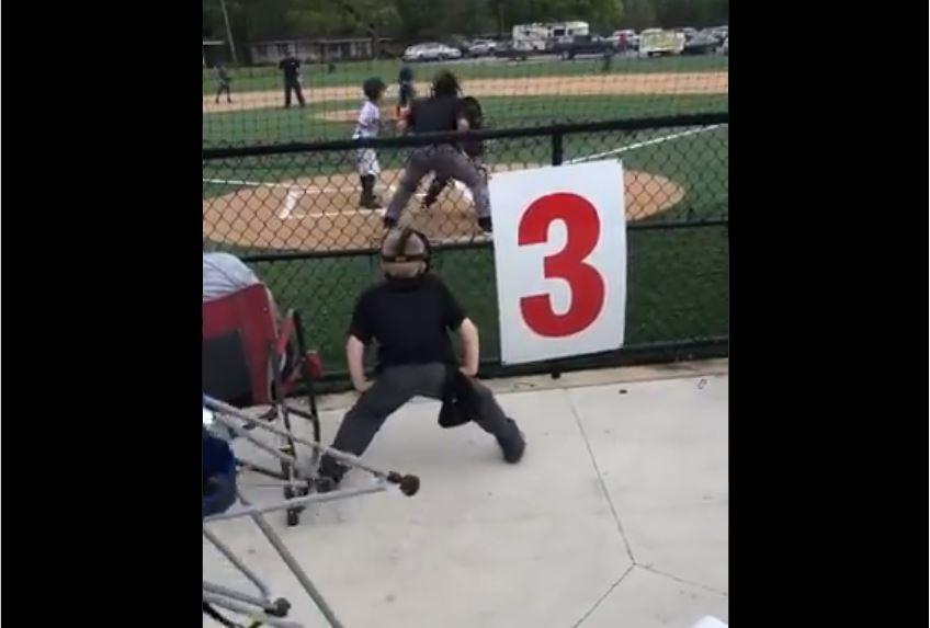 Start Dreaming Early! Boy Imitates Umpire
