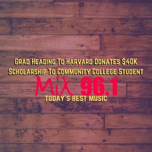 Grad Heading To Harvard Donates $40K Scholarship To Community College Student