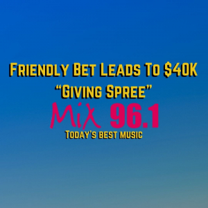 """Friendly Bet Leads To $40K """"Giving Spree"""""""