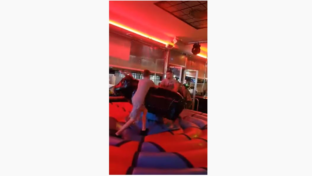 Man Gets Thrown Off Mechanical Bull Without Even Getting On