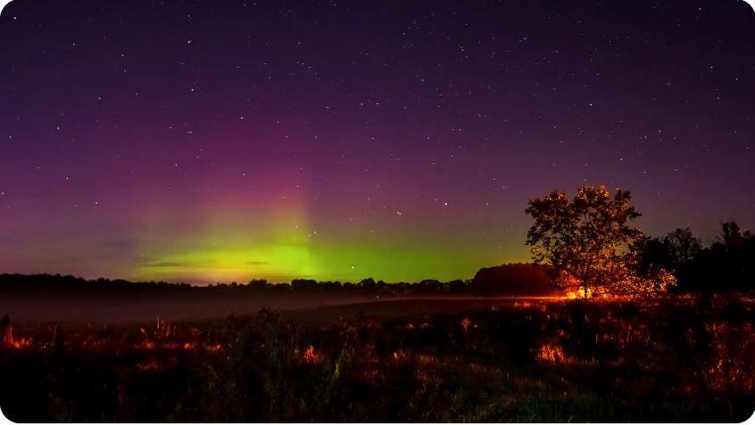 Time-lapse Video Of Aurora Borealis Over New Hampshire