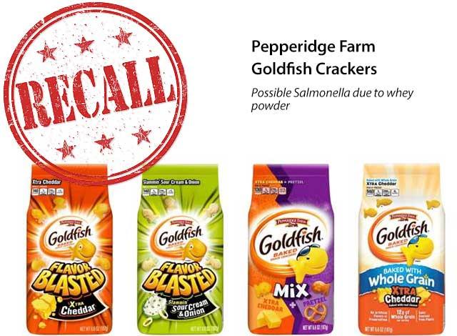 Pepperidge Farm® Announces Voluntary Recall of Four Varieties of Goldfish® Crackers