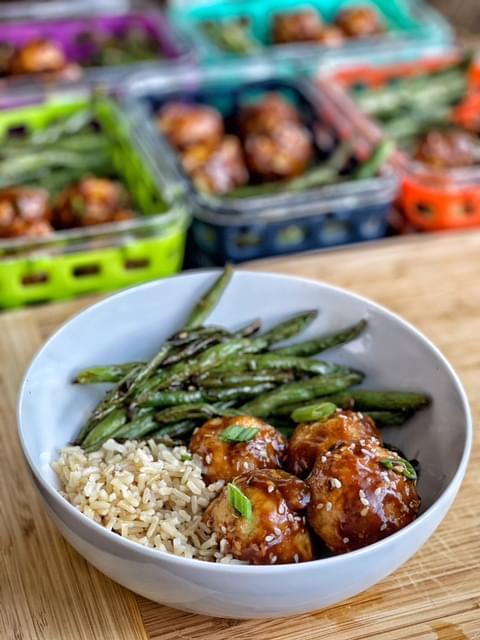 Asian Glazed Turkey Meatballs