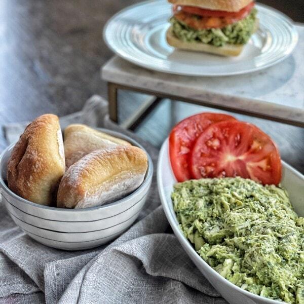 Skinny Pesto Chicken Salad