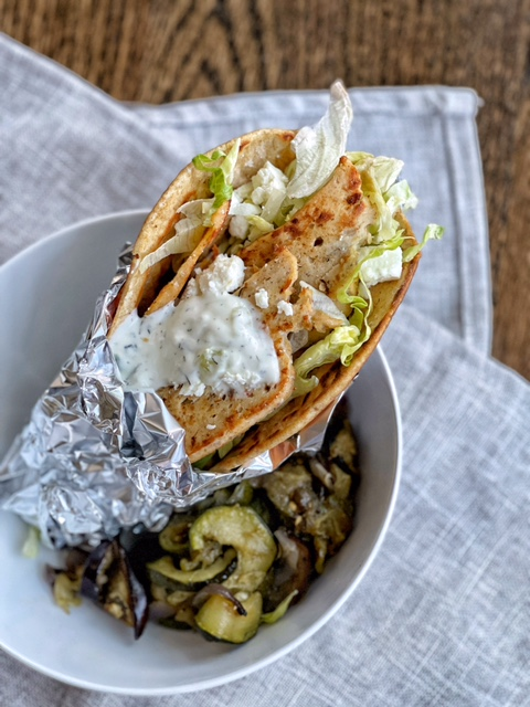 Healthy Sliced Chicken Gyro