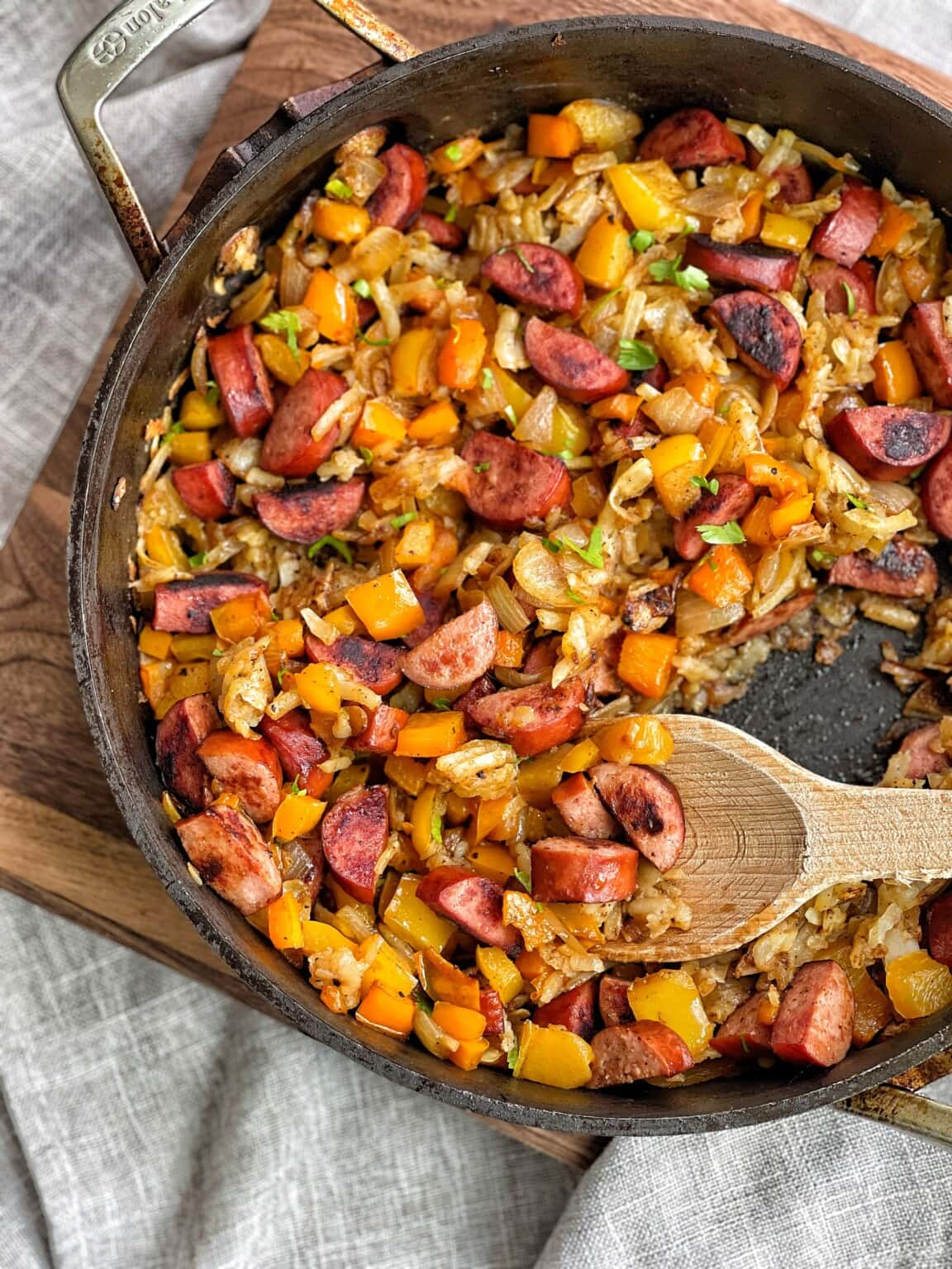 One Pan Kielbasa Hash