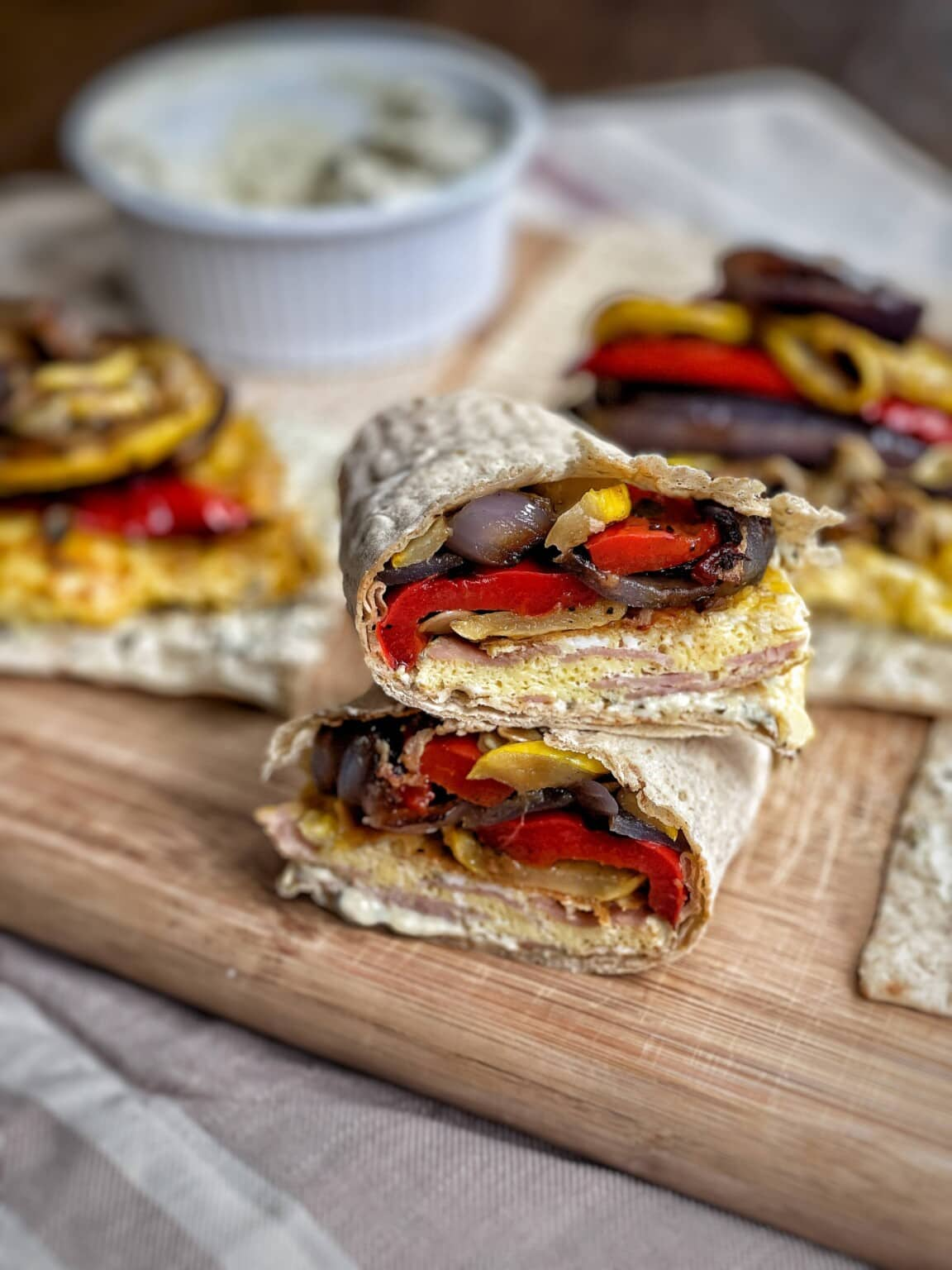 Grilled Vegetable and Egg Wraps