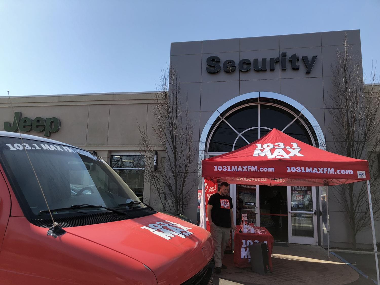 103.1 MAX FM at Security Dodge