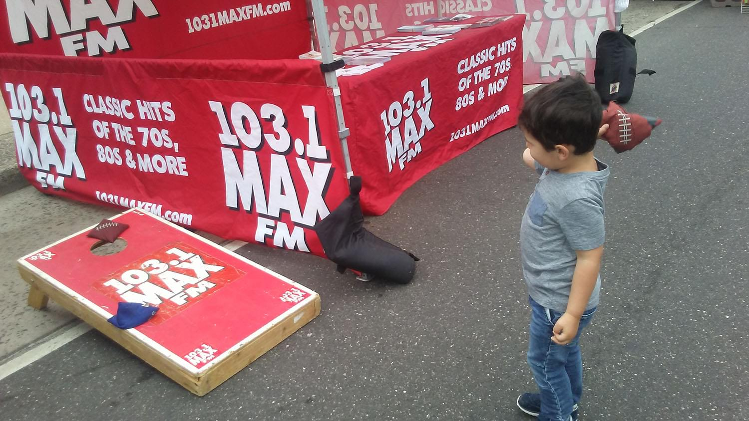 103.1 MAX FM at the Great Neck Street Fair