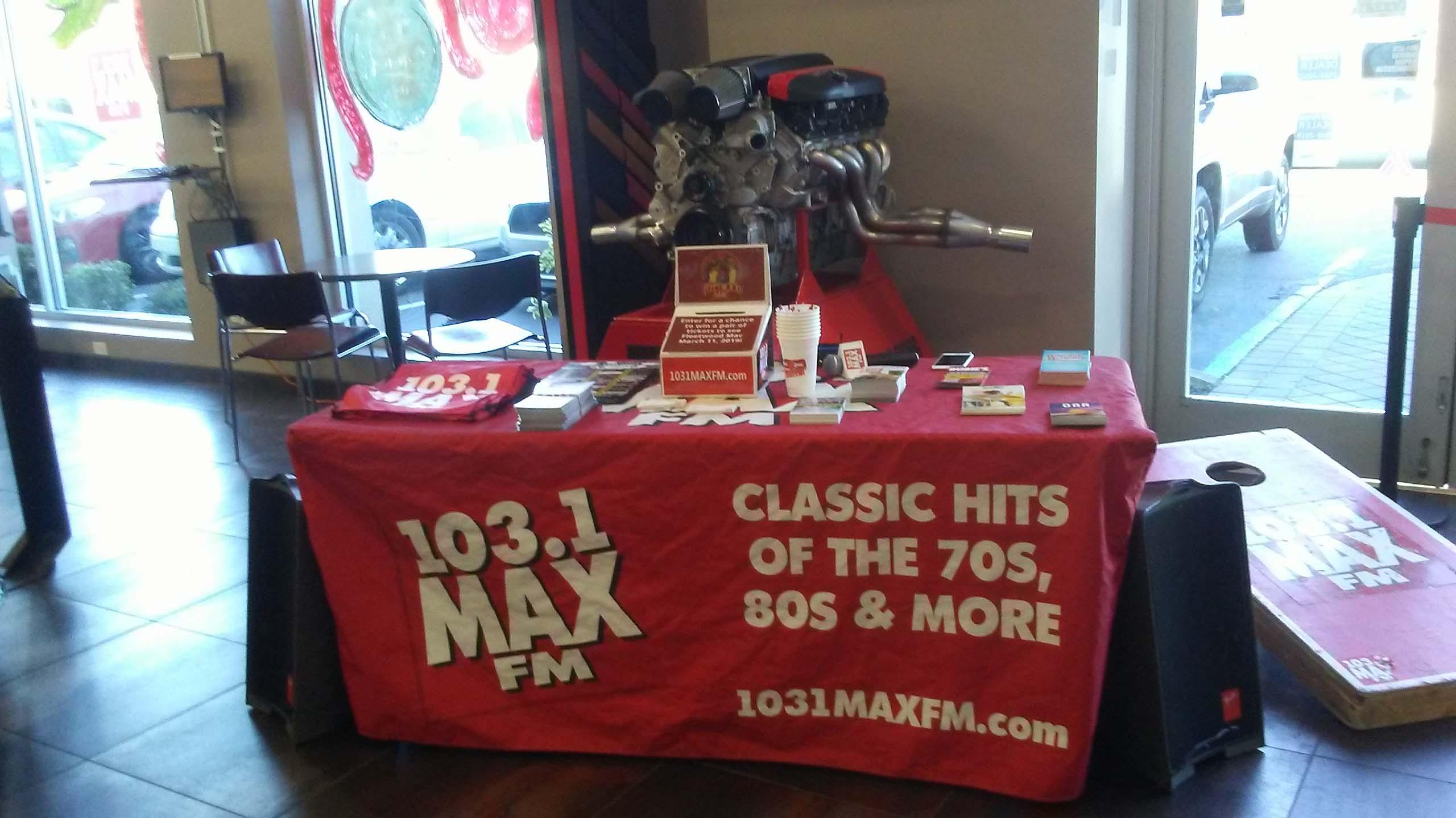 103.1 MAX FM at Security CDJR