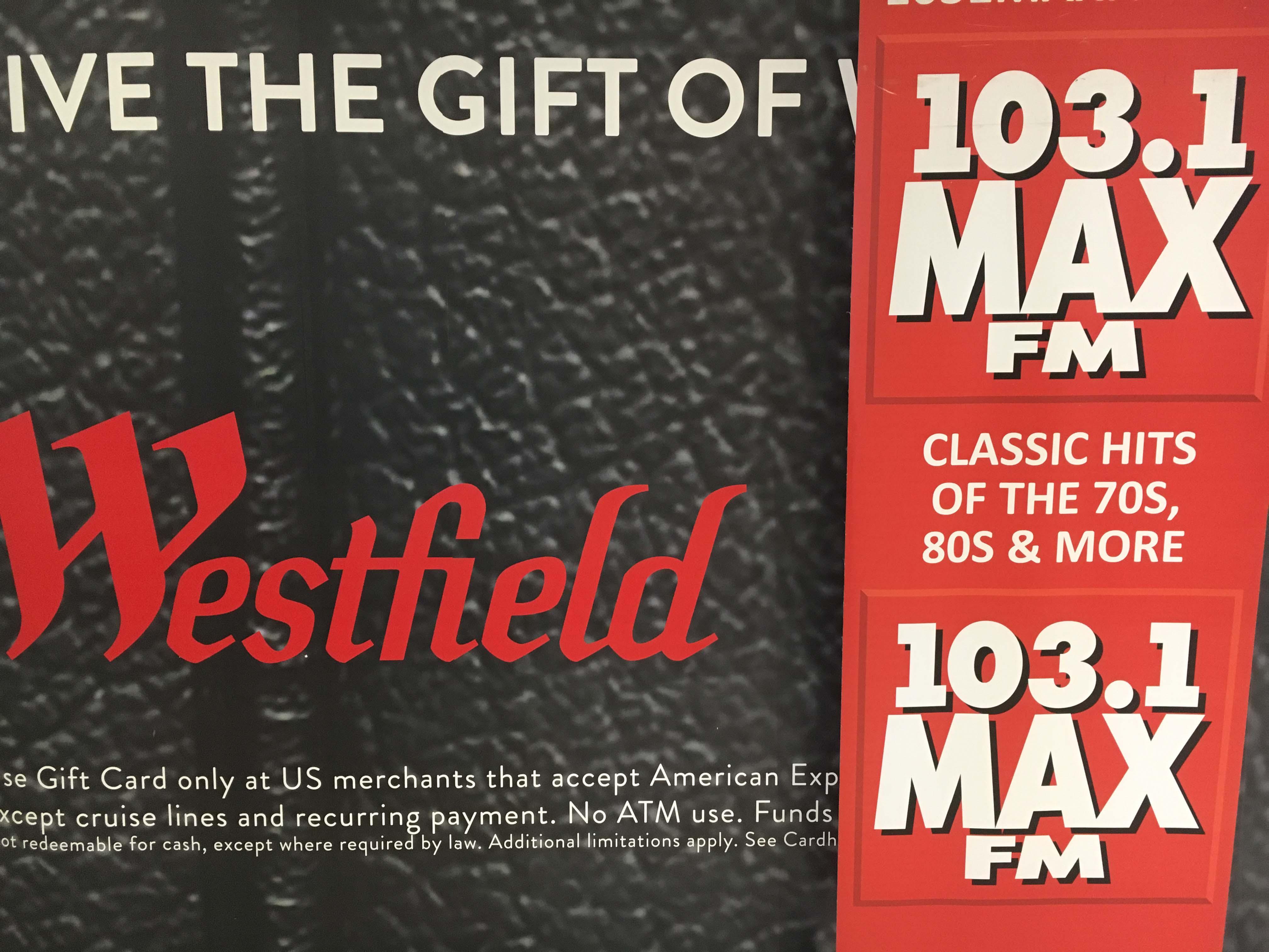 MAX FM @ Westfield South Shore