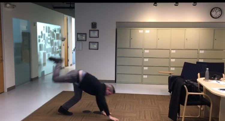 60 Seconds Behind the Scenes- Can Boss Kevin Begley do a cartwheel?
