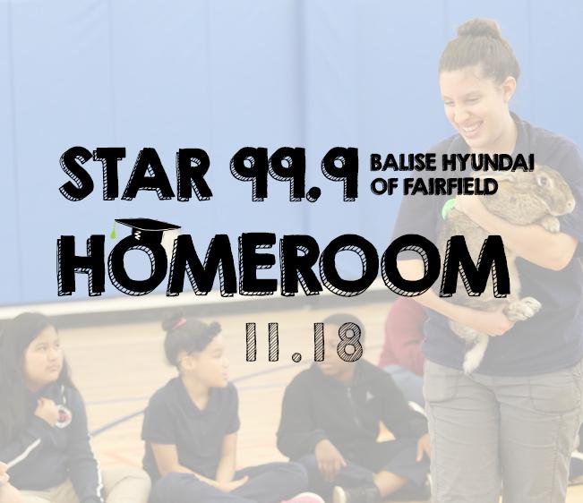 Star 99.9 Balise Hyundai of Fairfield Star Homeroom: November 2018