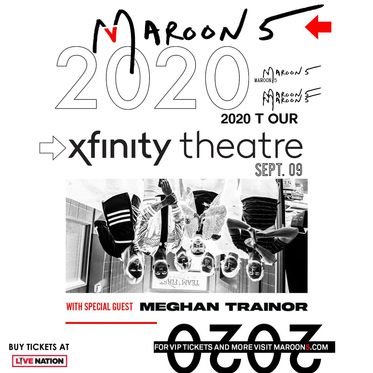 Enter to win tickets to Maroon 5 with Special Guest Meghan Trainor at the Xfinity Theatre