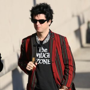 """Billie Joe Armstrong of """"Green Day"""" is seen arriving at Jimmy Kimmel Live"""