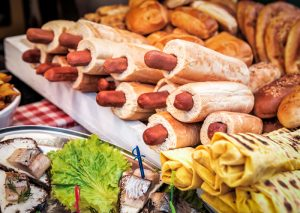 heap of delicious hotdogs