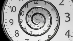 Classic Round Clock with  infinity time