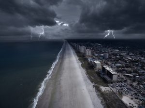 Storm in the coast of Florida
