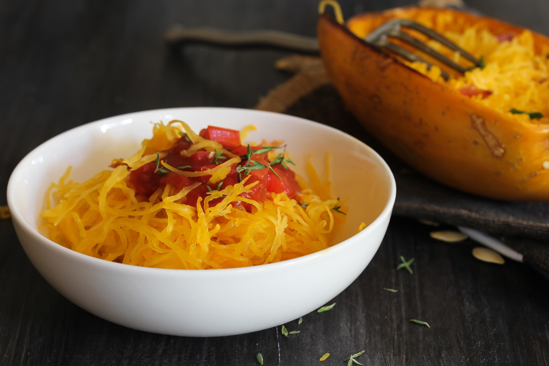 Crocktober: Spaghetti Squash with Meatballs!