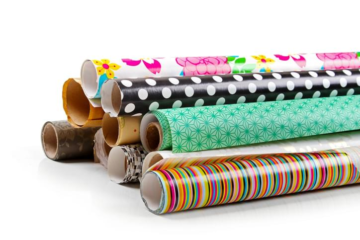 I SHOULD HAVE KNOWN THAT! Thursday December 3: Making It Rain Wrapping Paper