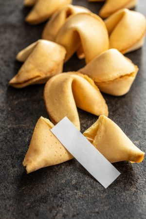 Chinese lucky cookies. Fortune cookies.
