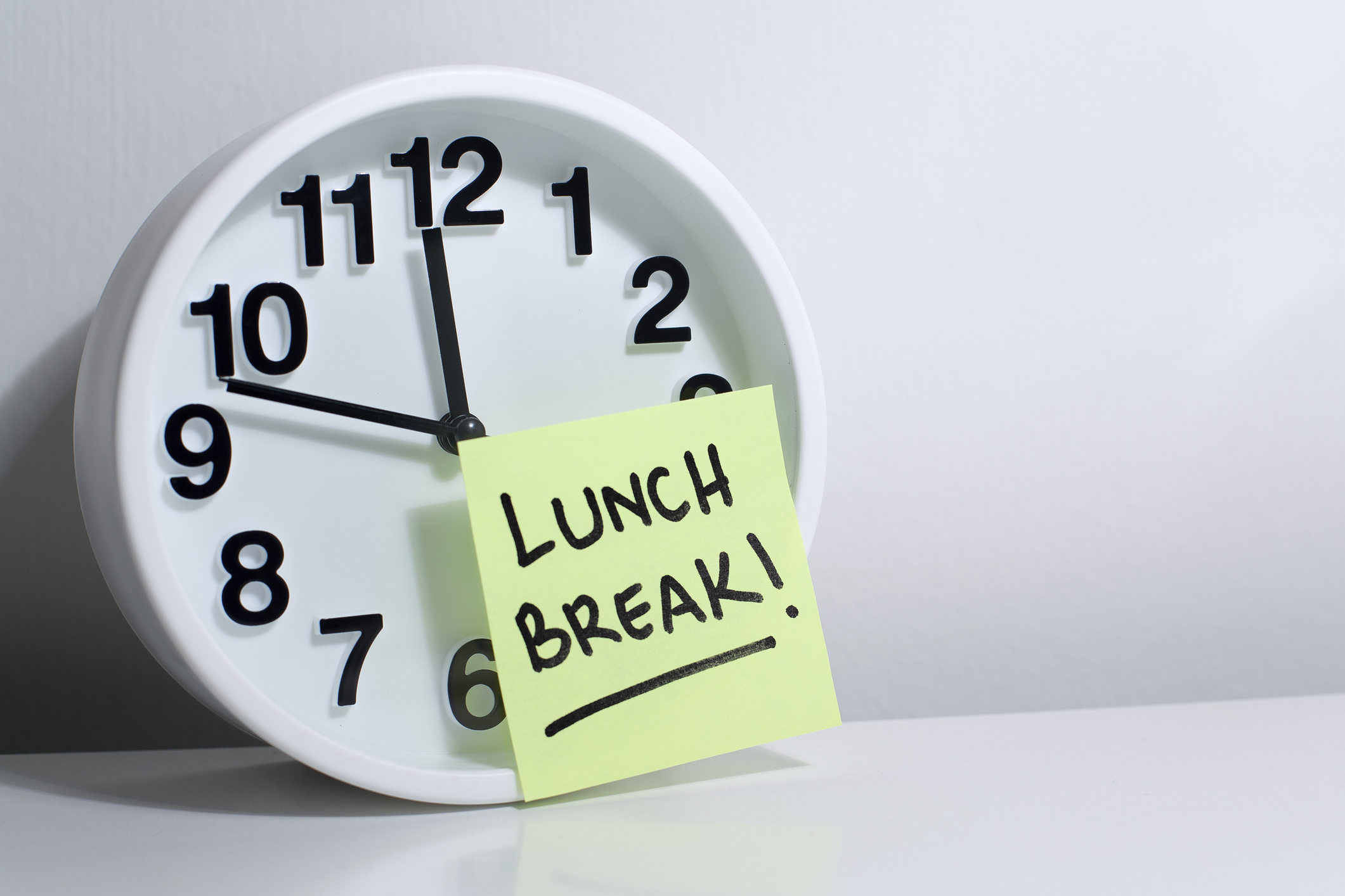 When Do You End Up Having Lunch?