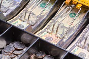 Cash Register Drawer Close Up