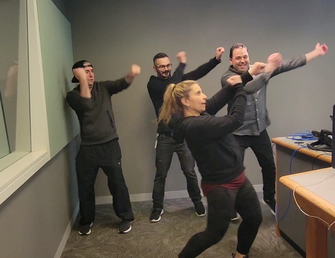 It's International Dance Day So Anna Taught The Guys A New Routine!