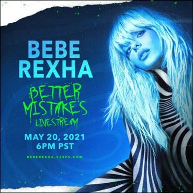 Win a code for A Night With Bebe Rexha: The Better Mistakes Livestream Concert
