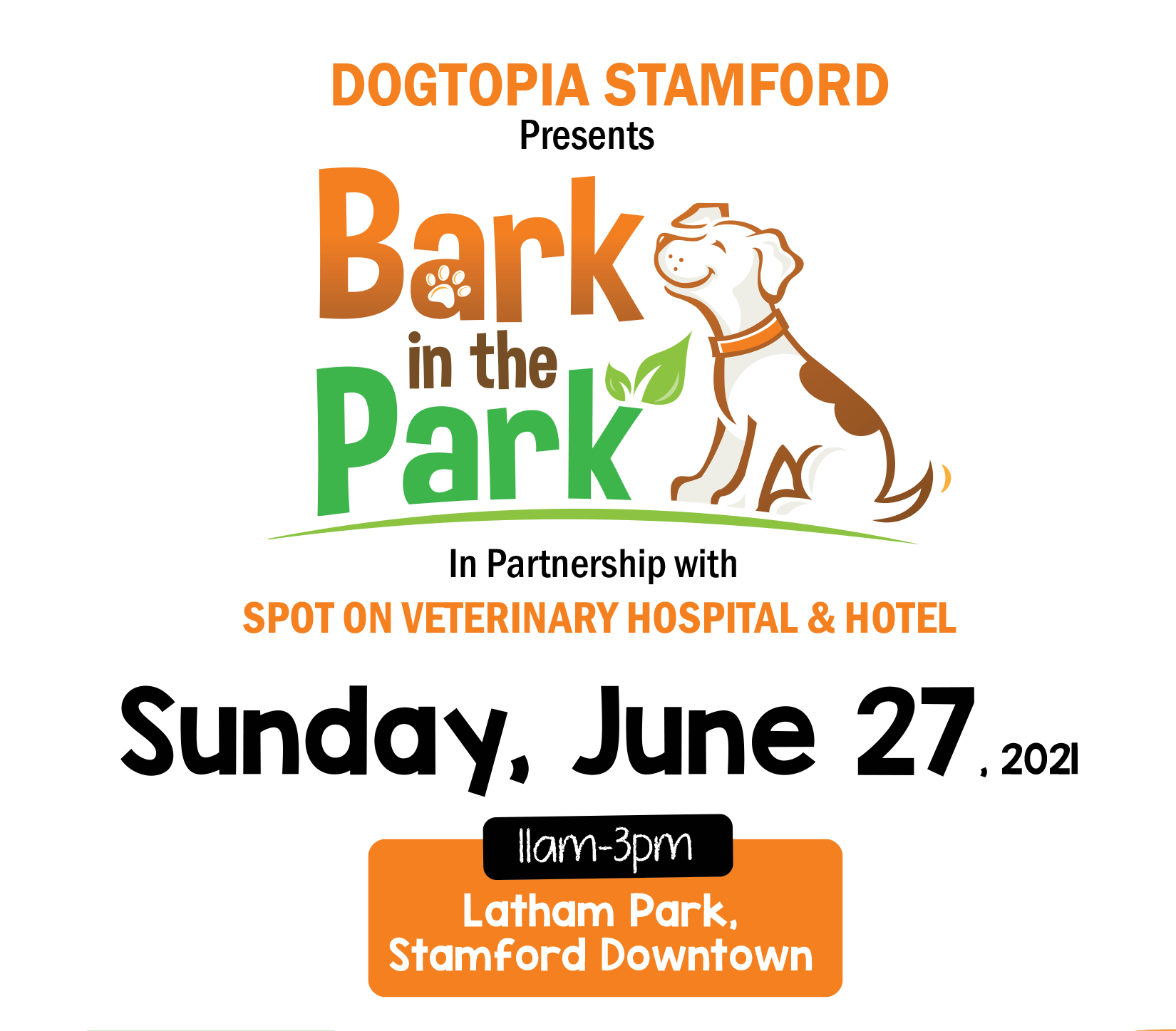 Bark in the Park in Stamford Downtown