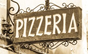 old pizzeria sign