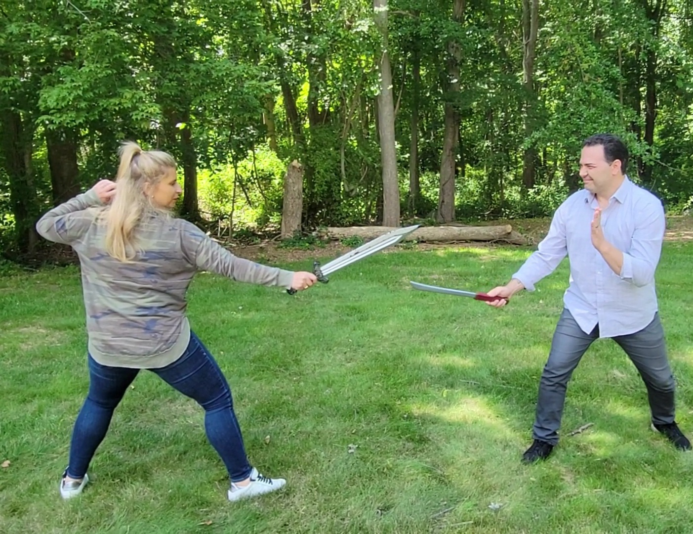 Anna & Raven Try Fencing!