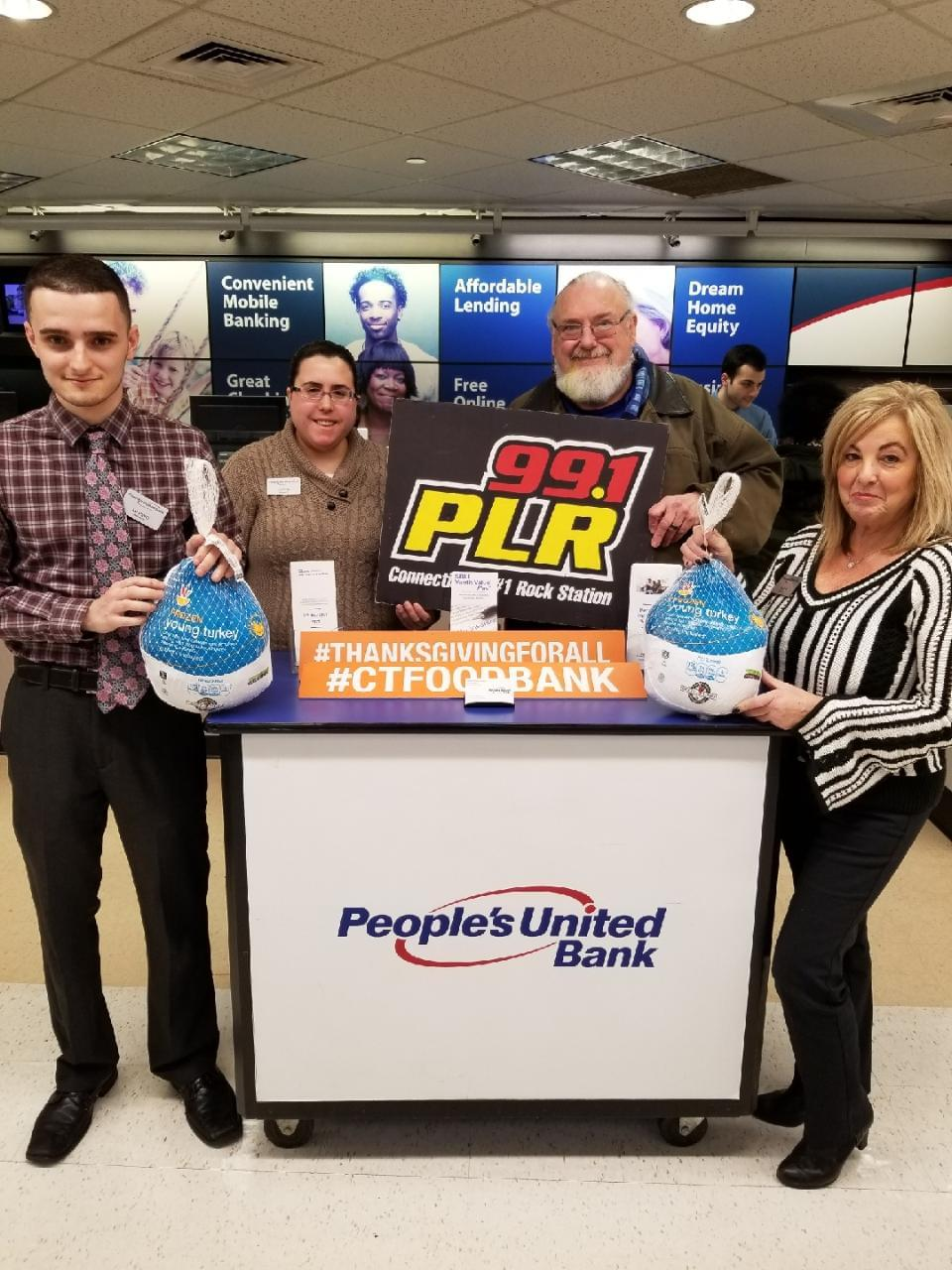 99.1 PLR People's United Bank Sam Tilery Food Drive at Stop & Shop in East Haven