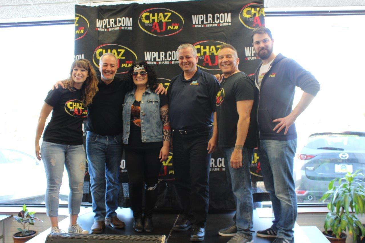 Chaz & AJ Mother of All Air Guitars Contest at Mazda of Milford