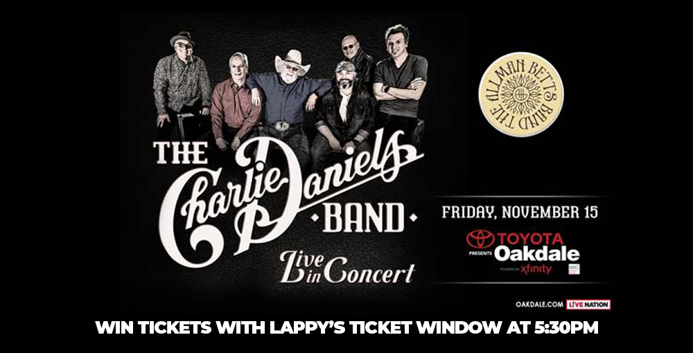 Win tickets to The Charlie Daniels Band with special guest The Allman Betts Band