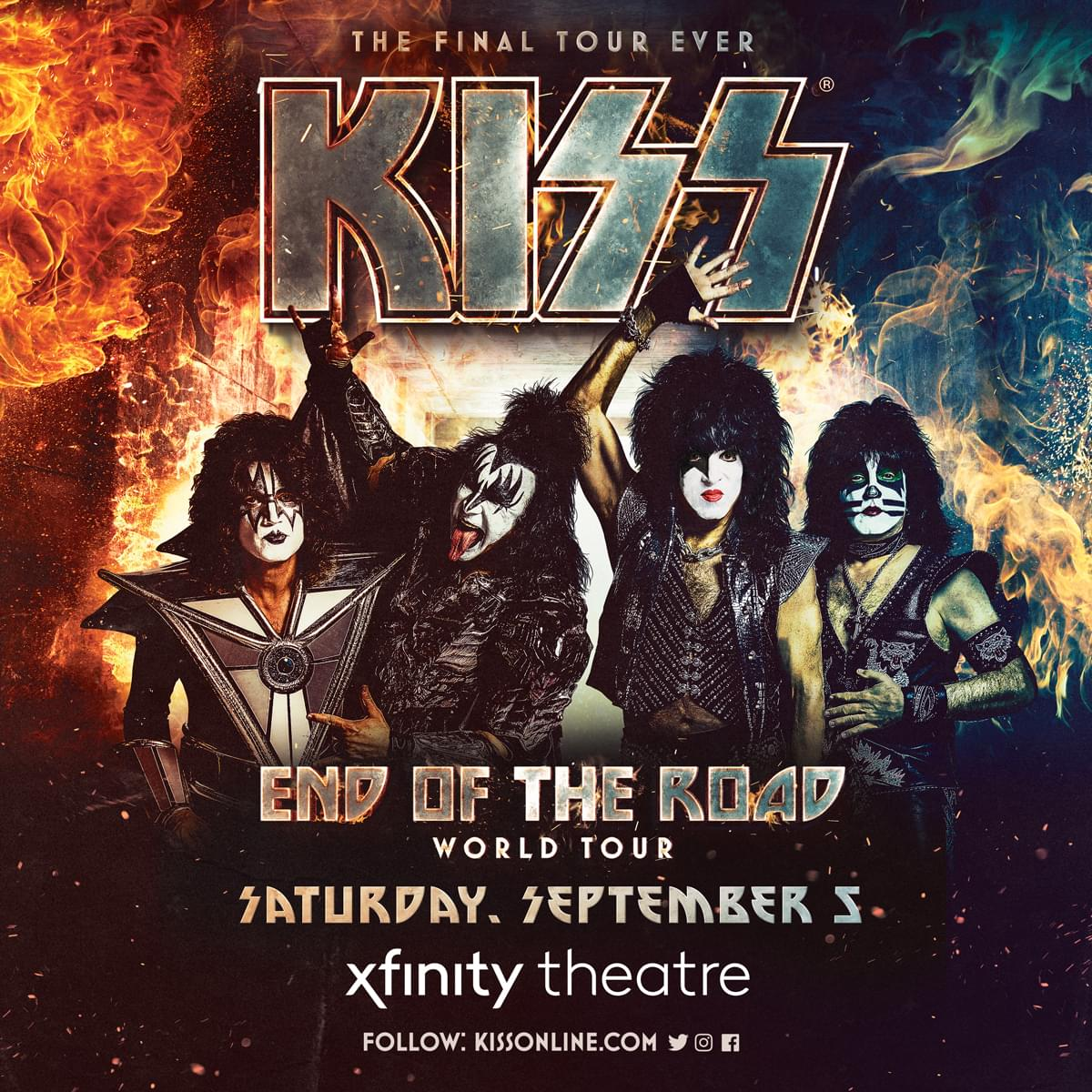 Win tickets to KISS: End of the Road World Tour