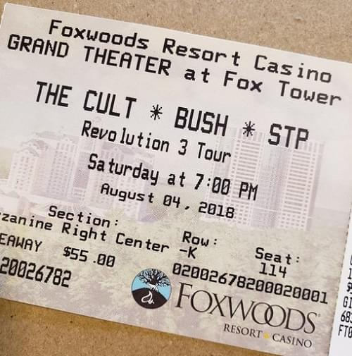 Throwback Concert: The Cult, Bush and STP at Foxwoods Resort Casino 2018