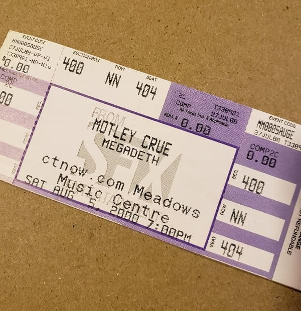 Throwback Concert: Mötley Crüe at Meadows Music Centre 2000