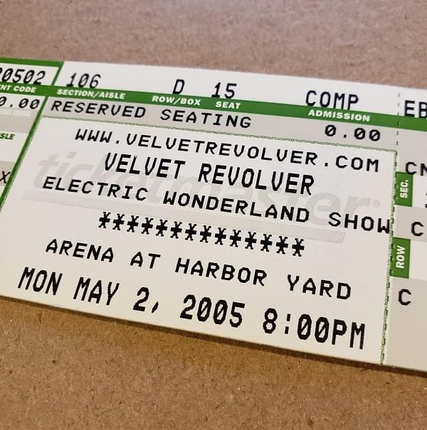 Throwback Concert: Velvet Revolver at Arena at Harbor Yard 2005